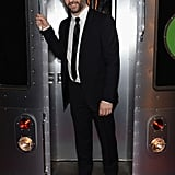 Judd Apatow posed with the G train at the afterparty.