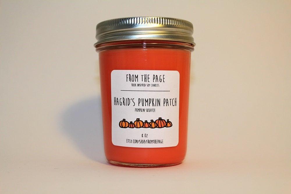 Hagrid's Pumpkin Patch candle ($11) with pumpkin soufflé notes