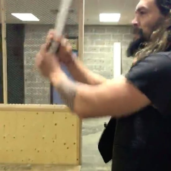 Jason Momoa Throwing an Ax Instagram Video December 2016
