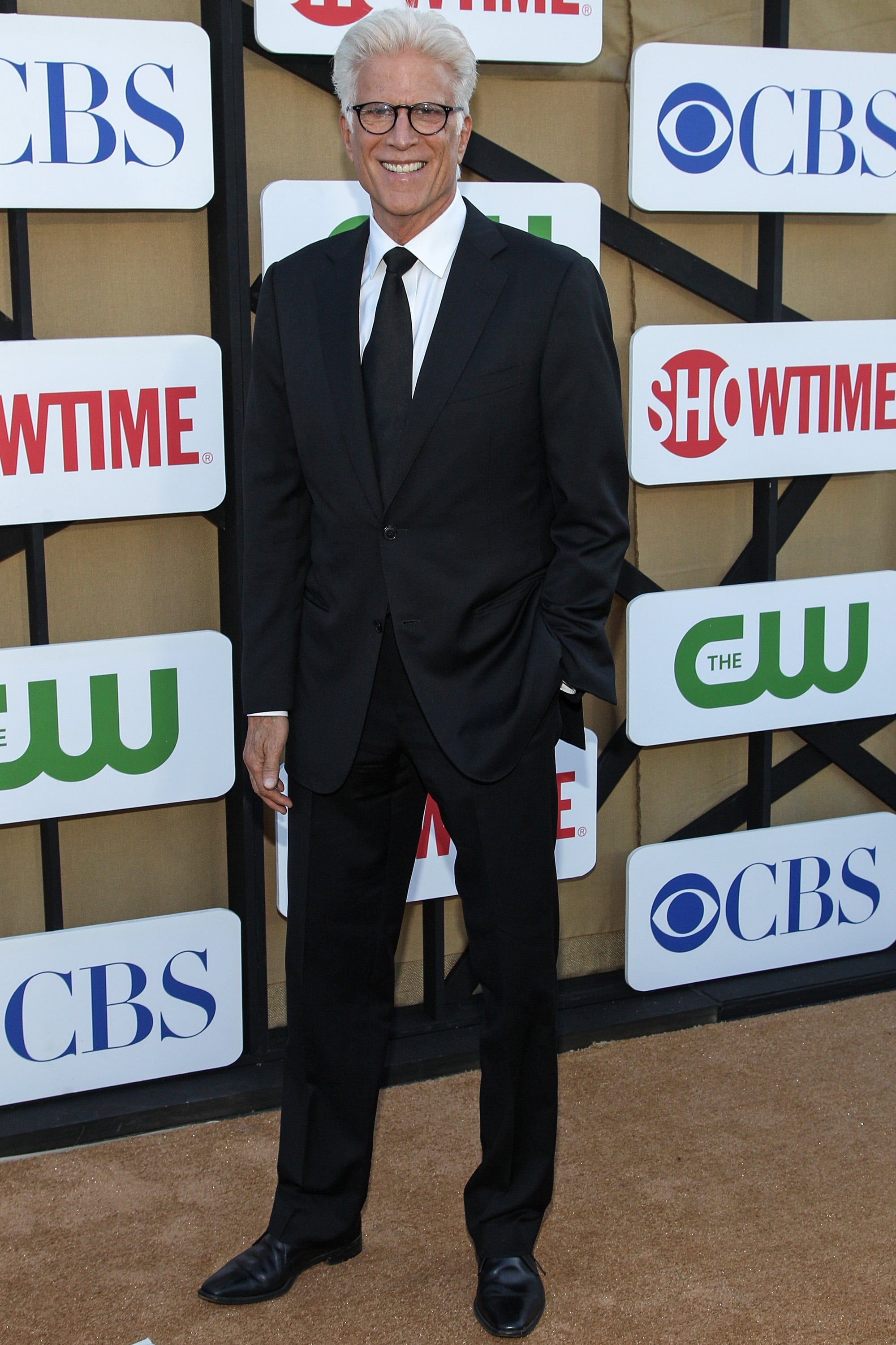 Ted Danson headed to the Summer TCA Press Tour party in LA.