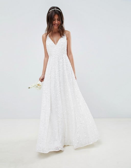 edc8539353f Asos Edition Sequin Cami Wedding Dress | Cheap ASOS Wedding Dresses ...