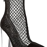 Kendall + Kylie Haven Embroidered Mesh & Suede High Block Heel Booties