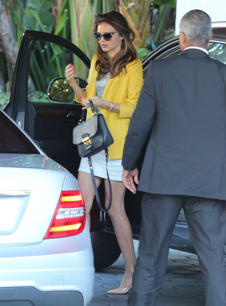 Miranda Kerr stepped out of her car.