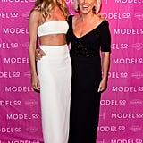 Rosie with ModelCo founder and CEO Shelley Barrett on the pink carpet.