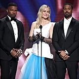 Jamie Foxx, Brie Larson, and Michael B. Jordan at the 2020 NAACP Image Awards