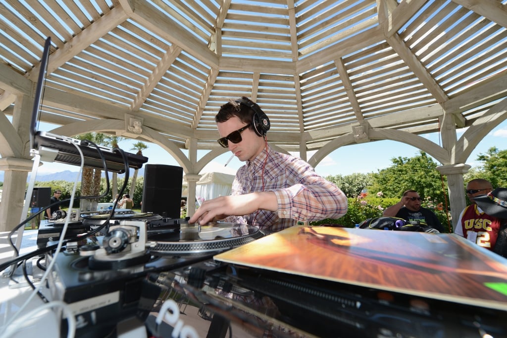 Elijah Wood deejayed at Lacoste Live!'s Coachella bash on Saturday.