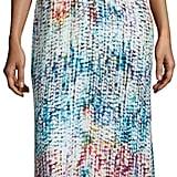 Parker Black Marceline Printed Silk Blouson Column Gown ($398)