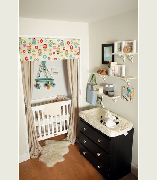 Tips For Decorating A Small Nursery: Turn A Closet Into A Cozy Alcove