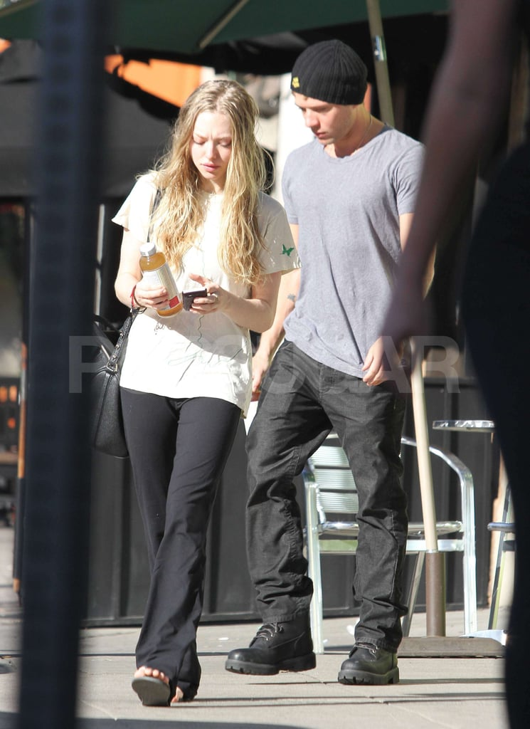 Ryan Phillippe and Amanda Seyfried picked up a bottle of Kombucha in West Hollywood on the way to Ryan's home yesterday. The actors have been dating since Halloween, and have enjoyed shopping trips and PDAs on the set of her film with Justin Timberlake. Amanda will be getting into promo mode soon, as Red Riding Hood is released in a couple of months. We've already had a first look at the film, and a new trailer has just been released. Fame/Barcroft Media
