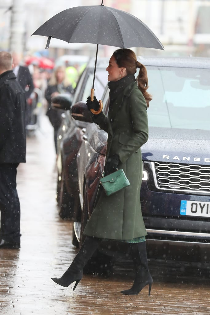 Kate Middleton's Green Sportmax Coat Blackpool March 2019