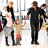 Nicole Kidman and Keith Urban enjoyed the company of Faith and Sunday in the airport.