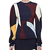 Victoria Beckham Abstract-Print Drape-Sleeve Top