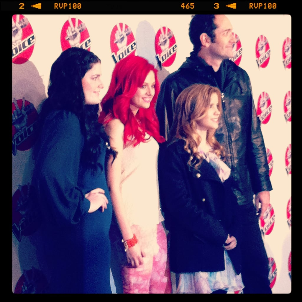 Jess snapped The Voice contestants at the media conference.