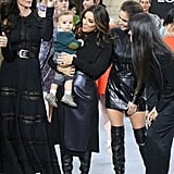 Eva Longoria Brought Her Son Santiago to Paris Fashion Week