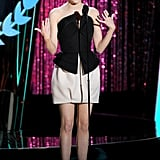 Emma Stone had the audience laughing during her speech.