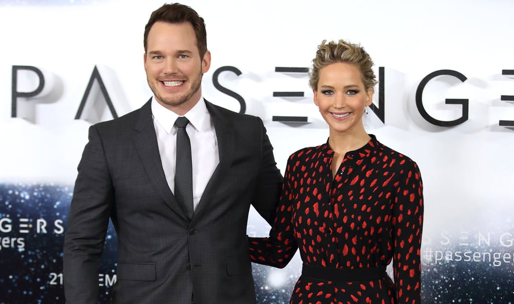 Jennifer Lawrence and Chris Pratt, two Golden Retrievers in human form, are in the midst of a whirlwind European press tour for their upcoming sci-fi romance, Passengers. Unsurprisingly, it looks like the two goofy co-stars could not be having more fun. From taking jokey non-selfies together to laughing up and down the red carpet in Paris, Madrid, and London, Chris and J Law have hereby solidified themselves as our new favourite Hollywood BFFs.        Related:                                                                Fact: You Are Not Ready For These Adorable Chris Pratt and Jennifer Lawrence Pictures                                                                   Chris Pratt Talks About His Chronic Man-Boob Sweating With Jennifer Lawrence on Ellen