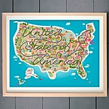 USA Map Art Print ($20)