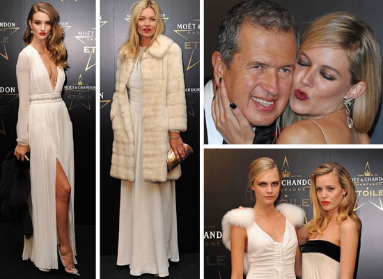 Pictures of Celebrities at Moet & Chandon Etoile Award for Mario Testino in London, including Sienna Miller, Kate Moss and more!