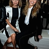 Jessica Alba and Nicole Richie sat together at the Stella McCartney show during Paris Fashion Week on Monday.