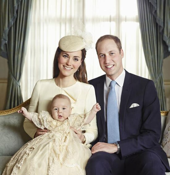 Prince George's christening photo captured his playful side.