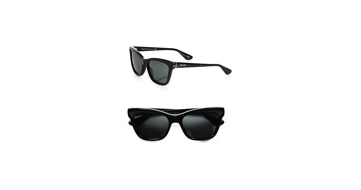 a85faaedb3ca ... authentic prada square cats eye sunglasses 290 street style stars at  fashion week popsugar fashion photo