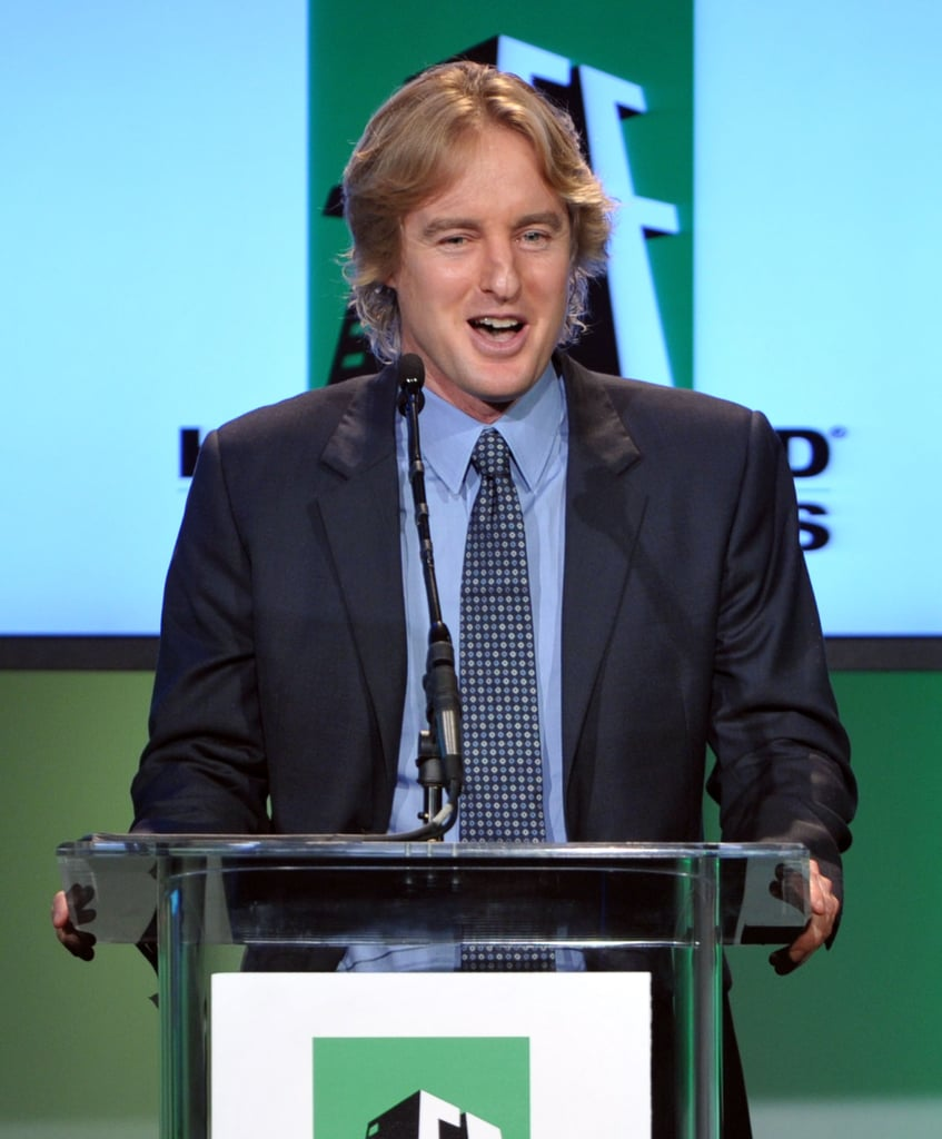 Owen Wilson talked to his peers at the 2011 Hollywood Film Awards.