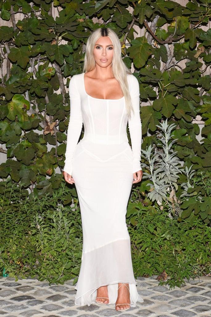 Kim Kardashian S White Dolce And Gabbana Dress Popsugar