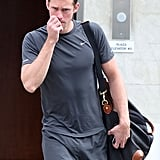 Alexander Skarsgard Arrives at the Gym For a Sweaty Workout Session