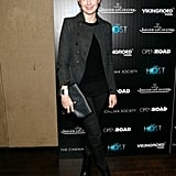 Kelly Rutherford wore black to the screening.