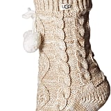 UGG Pom Fleece Lined Crew Socks