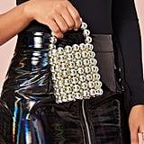 Shein Metallic Beaded Bucket Bag