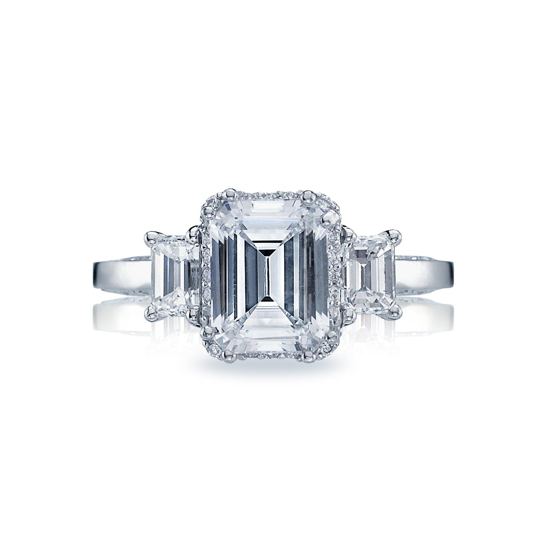 Tacori Dantela Emerald-Cut Diamond Three-Stone Setting Engagement Ring ($7,570)