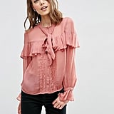 Asos Ultimate Pussy Bow Ruffle Blouse ($49)