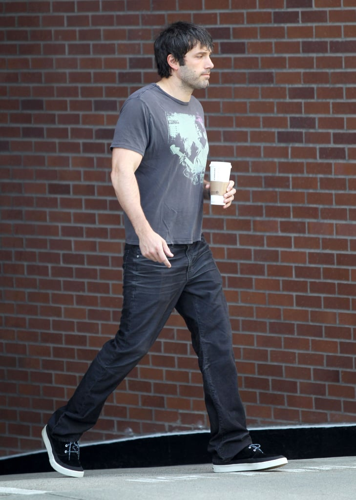 Ben Affleck went solo for a coffee stop.