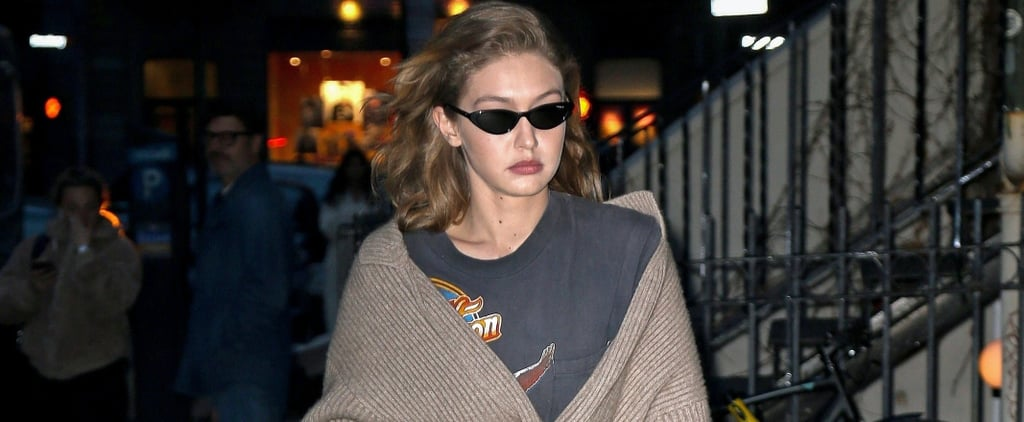 Gigi Hadid's Leggings and Long Sweater