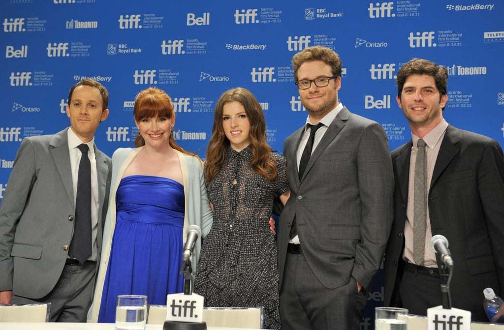 Seth Rogen, Bryce Dallas Howard, Anna Kendrick, Jonathan Levine, and Will Reiser came out to support their film, 50/50.