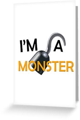 """""""I'm A Monster"""" Greeting Cards"""