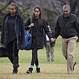 In January 2015, the family returned to the White House after their getaway to Hawaii.
