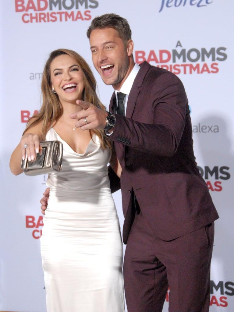 A Bad Moms Christmas Justin Hartley.Justin Hartley And His Wife At A Bad Moms Christmas Premiere