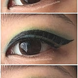 She even added that this makeup trick has saved her from going through countless tubes of liner and she now uses 80 percent less product. This was how much eyeliner she used prior to the floating technique: