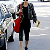 Nicole Richie headed out of the gym in LA.