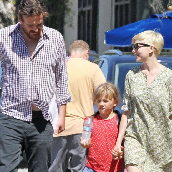 Michelle Williams and Jason Segel Take Matilda to Gymnastics