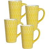 Studio Set of 4 Mugs, Yellow ($18)