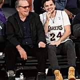 Miles Teller and Dax Shepard at Lakers Game April 2016