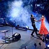 Rihanna and Chris Martin gave a performance for the London Paralympics closing ceremony.