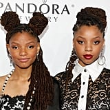 Halle Bailey in Space Buns