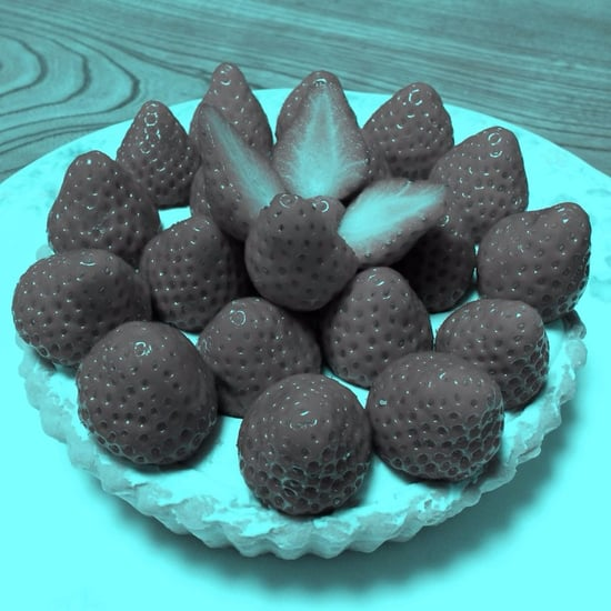 Strawberries Optical Illusion Photo