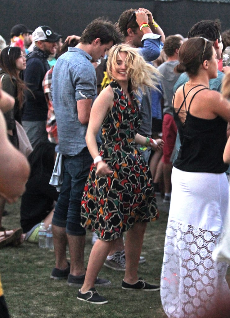 Dianna Agron danced the day away.