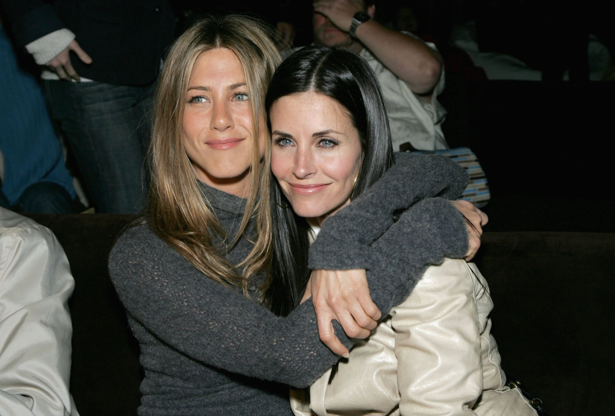 LOS ANGELES, CA - APRIL 11:  Actors Jennifer Aniston and Courteney Cox attend the after party at the L.A. premiere for