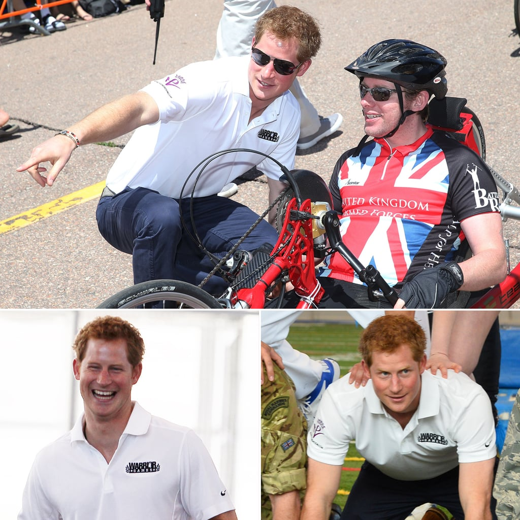 Prince Harry Participates in Human Pyramid on US Tour 2013